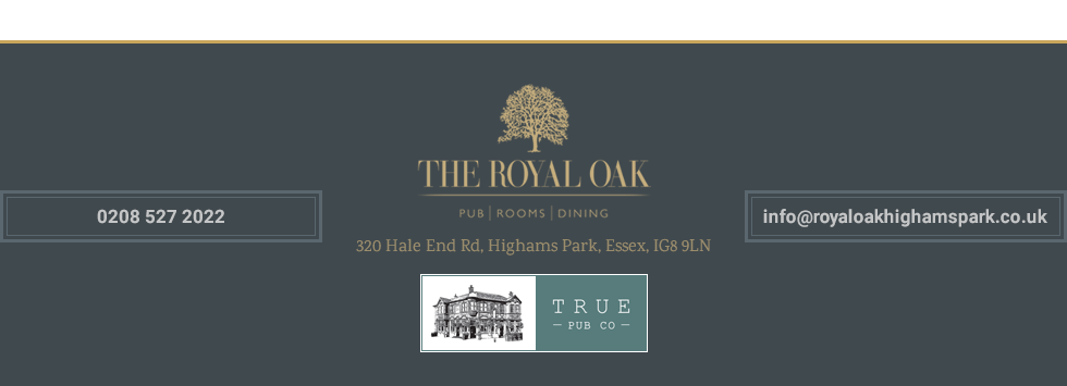 Thanks for visiting Royal Oak Pub & Kitchen